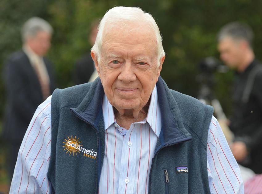 Former President Carter leases 10 acres of his farmland to build 1.3-megawatt solar power station