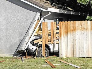 Vehicle hits home in Yuba City