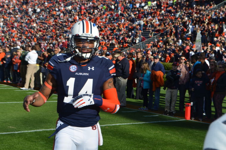 Nick Marshall comes to greet D'haquille Williams in the end zone.