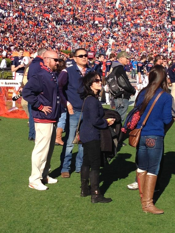 AU Baseball Coach Sunny Golloway on the sidelines at the Iron Bowl