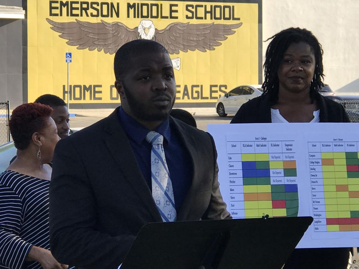 Local NAACP alleges Emerson Middle School Principal Kempton Coman was unfairly demoted, but provides little proof