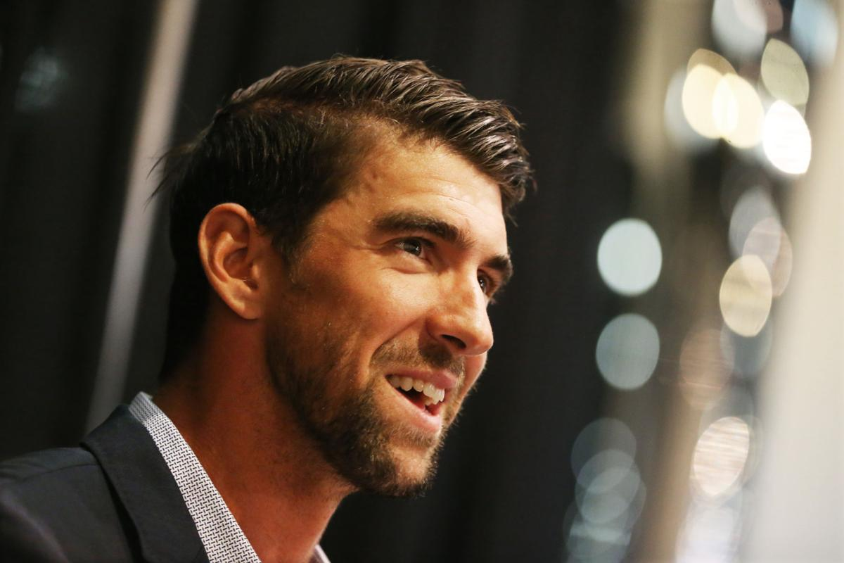 Phelps delivers message of perseverance to Hoffmann Hospice crowd