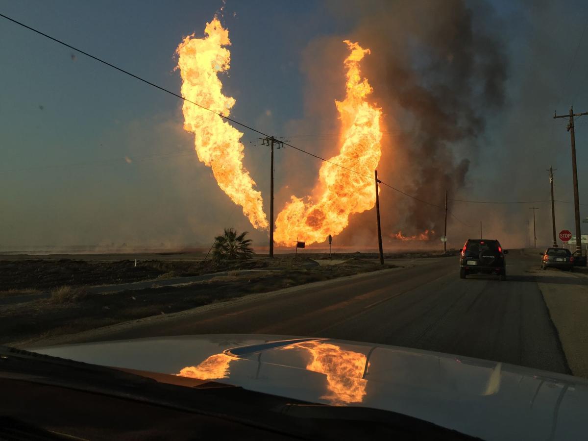 Natural Gas Line Explosion California
