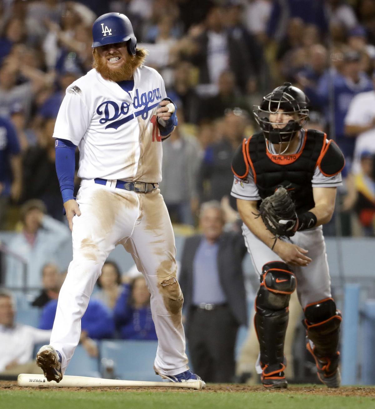 Marlins Dodgers Baseball