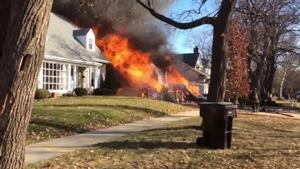 107th Place fire-video