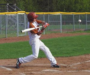 <p>Sophomore Caleb Mikl went 2x4 with two RBIs in the 10-0 win at Ladysmith Tuesday, May 12.</p>