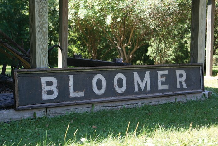 The Bloomer Railroad Depot Sign Comes Home