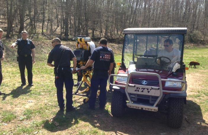 Branford fire 39 s atv called to action in supply pond injury for Local pond supplies