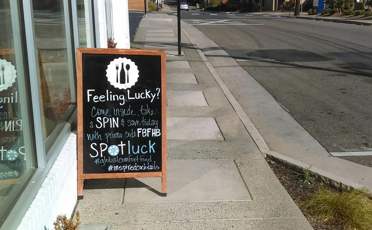 Spotluck spin it to win it life for Food bar harrisonburg