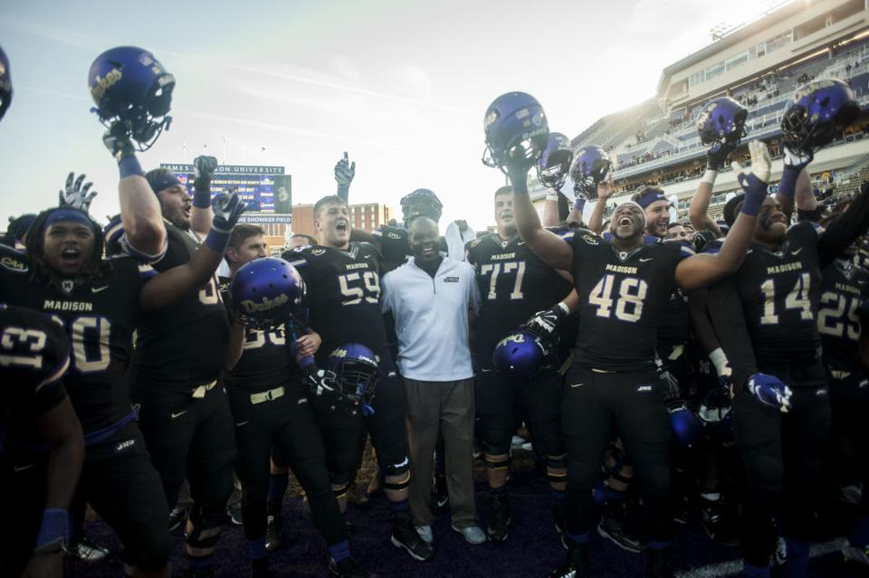 JMU wins 38-29 on Senior Day, clinches CAA co-championship