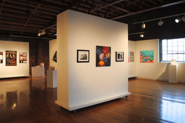 Portable Art Exhibition Walls : Artworks gallery opening four jmu seniors represent