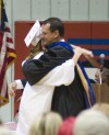 Anna Yates and her father, BVHS principal Brian Yates