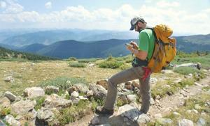 <p>Ben Hanus uses GIS technology to survey and itemize damage on Mount Holy Cross. Hanus spent three summers with Colorado Fourteeners Initiative as sustainable trails director surveying damage across 39 of Colorado's fourteeners.</p>