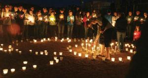 Candlelight vigil photos