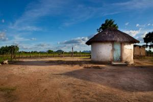 A hut in the remote area of Chibi, Zimbabwe