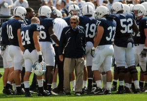 Joe Paterno and team