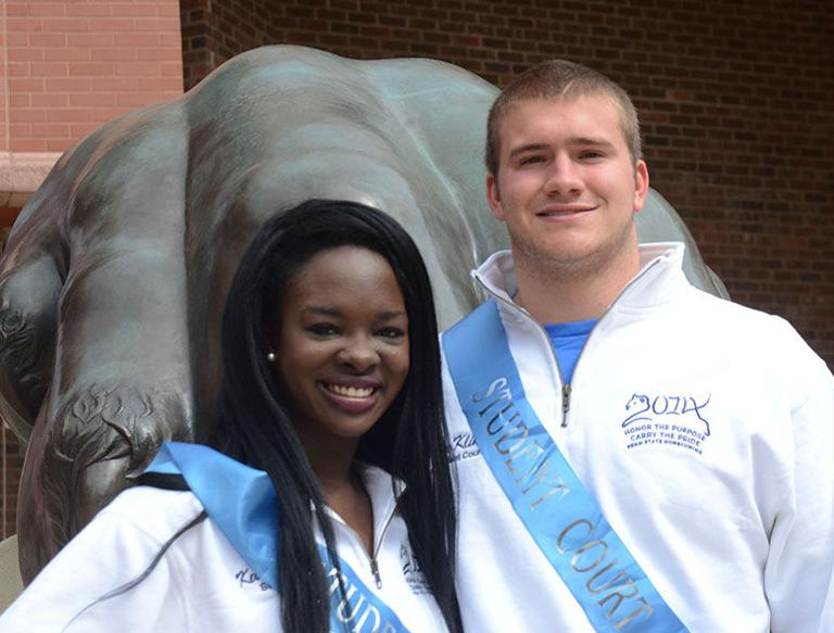 Homecoming couple sees nomination as honor to represent