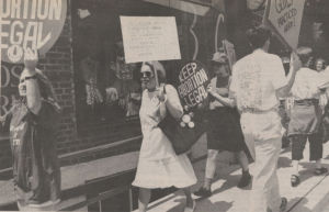 Throwback Thursday: pro-choice supporters picketed pregnancy center