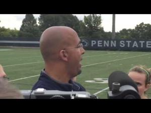 James Franklin meets with the media on Aug. 26