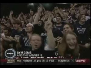 Dwayne Anderson Hits The GW 3-PT shot Vs Seton Hall - 2/9/08
