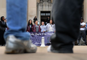 Fifth annual Take Back the Night walks across campus, participants to share stories