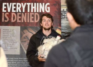 PETA visits Penn State as part of Glass Walls tour