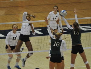 Nia Grant and Micha Hancock earn Big Ten women's volleyball weekly honors