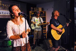 Local indie bands performed at Webster's Bookstore