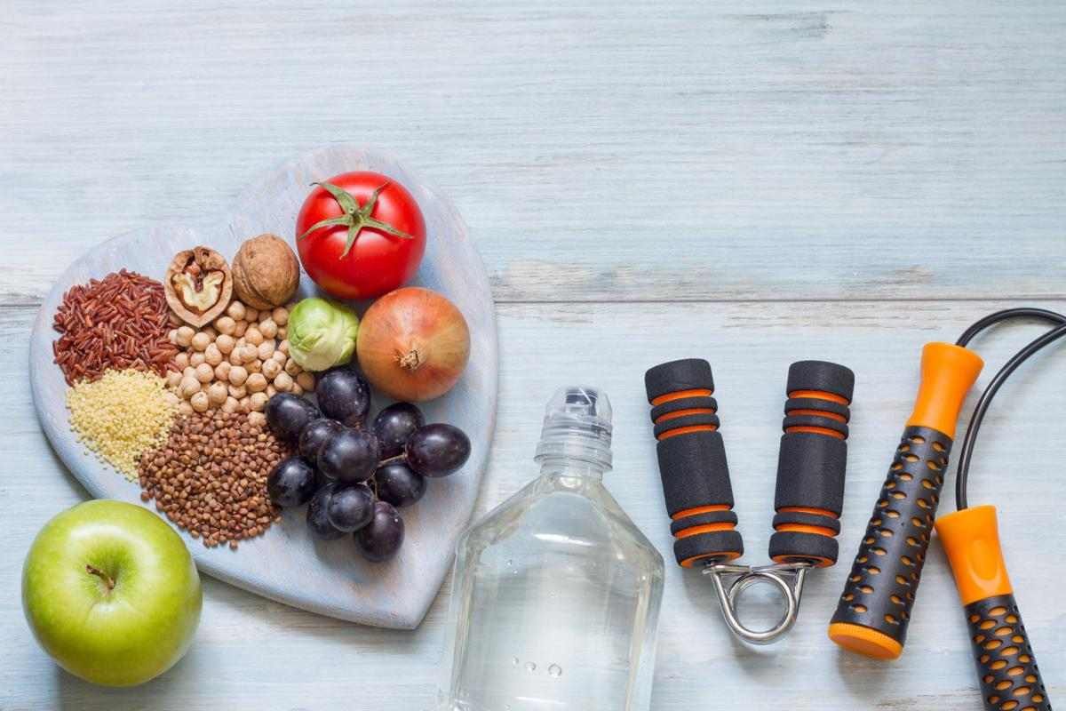 Healthy lifestyle of diet, fitness