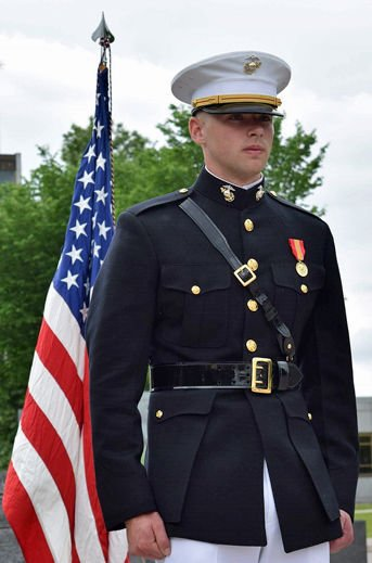 Ellefson commissioned as officer in the United States Marine Corps ...