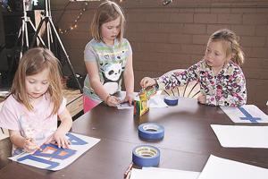 Young artists prepare for Purple Paintbrush