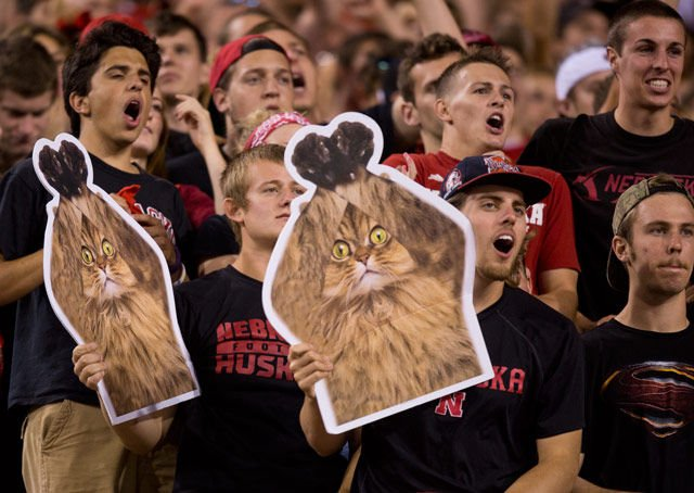 Huskers Energize Fans During Competitive Game Against