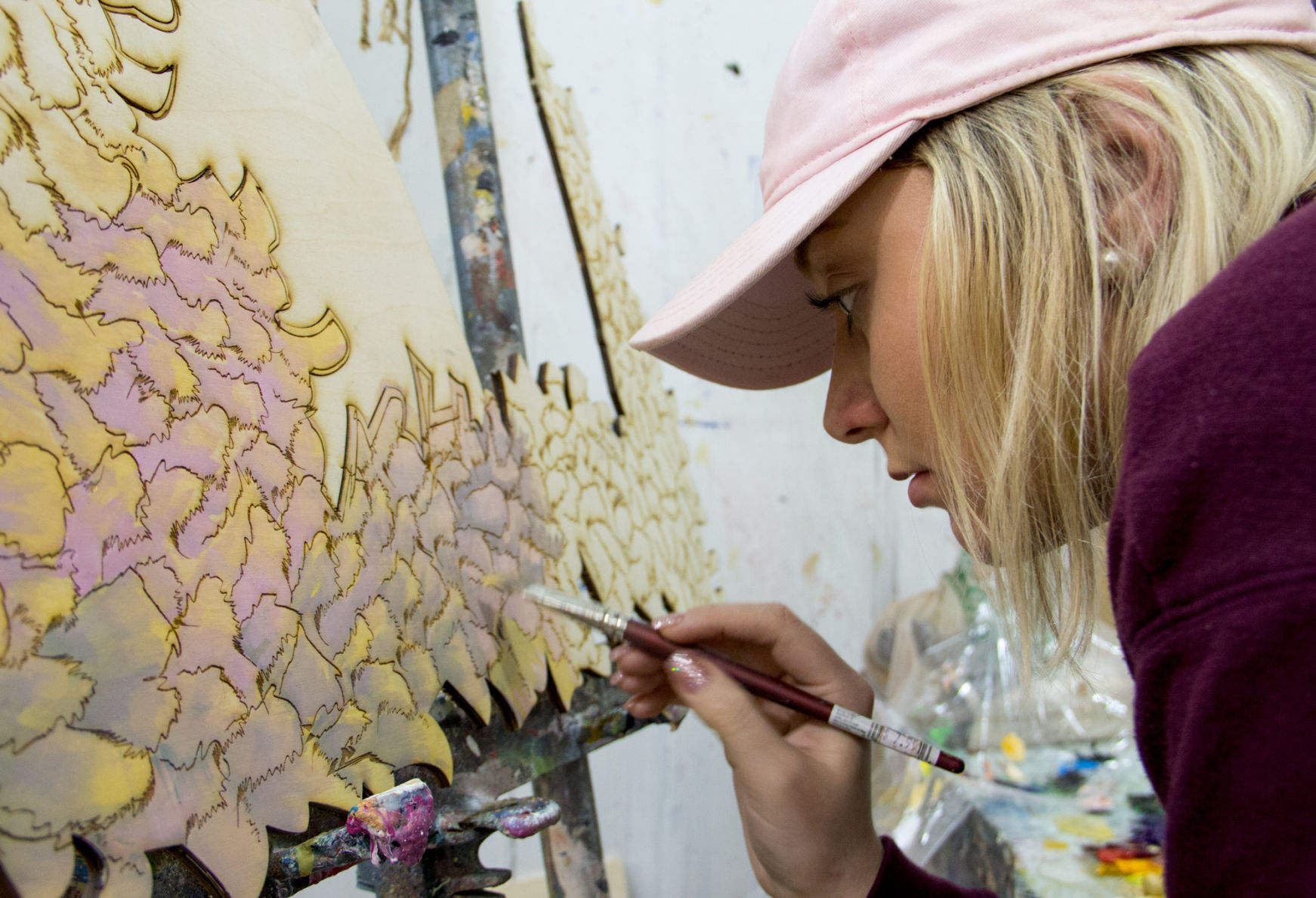 Carving a new path: UNL art major paints identities with ...