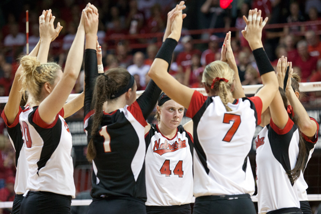 Husker volleyball against Iowa State