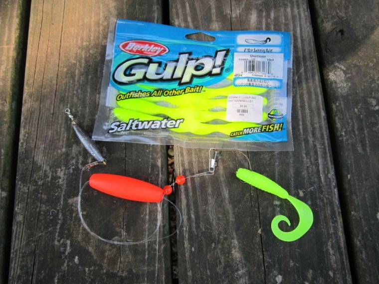 Gulp for flounder how to rig gulp swimming mullets for Best bait for saltwater pier fishing