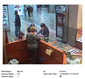 Mall surveillance image