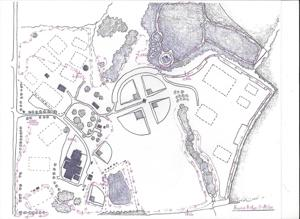 <p>A drawing shows the route for the Hoover Ridge Five Miler which will be held Saturday.</p>