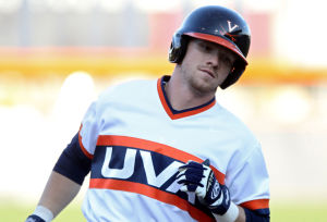 <p>Virginia left fielder Derek Fisher (23) rounds the bases after hitting a home run during the third inning of an NCAA baseball game against Richmond on Wednesday in Charlottesville, Va. Photo / Ryan M. Kelly / The Daily Progress</p>