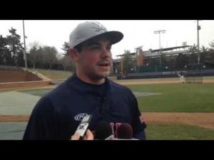 First day of #UVa baseball practice: Kenny Towns