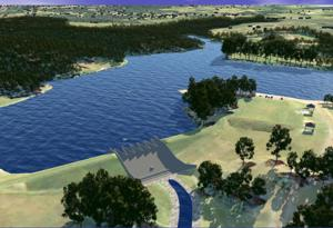 <p>A consultant for the town of Culpeper has recommended constructing a labyrinth weir spillway, shown, in the center of the existing earthen dam at Mountain Run Lake as well as at Lake Pelham. The estimated $15 million project would allow the dams to handle an extreme weather event, per new state standards. contributed</p>
