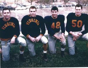 Joe Palumbo with Carl, Chief, and Charley