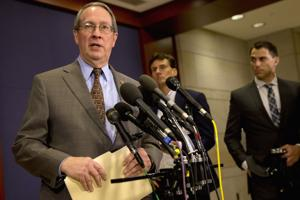 <p>House Judiciary Chairman Rep. Bob Goodlatte, R-Va. speaks to the media </p>