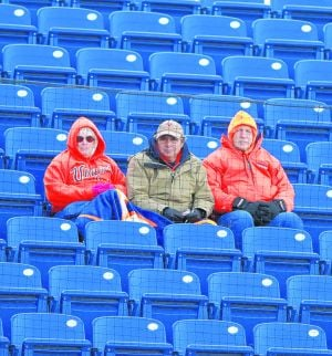 "<p align=""justify"">Cold temperatures kept many fans away from Davenport Field for the Cavaliers' contest against VMI on Feb. 25. Winter weather has wreaked havoc on Virginia's schedule this season. Photo/Andrew Shurtleff</p>"