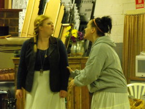 "<p>Jo (Lydia Freesen) emotionally tells her Marmee (Justine Juart) that sister Amy threw her writing manuscripts into the fireplace during Sunday's Waynesboro Players' rehearsal of ""Little Women,"" at the Players' warehouse in Waynesboro.</p>"