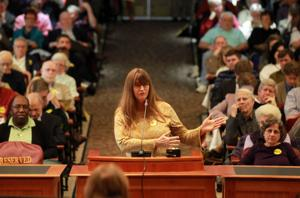 Robyn Kells at bypass hearing