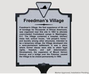 Freedman's village marker