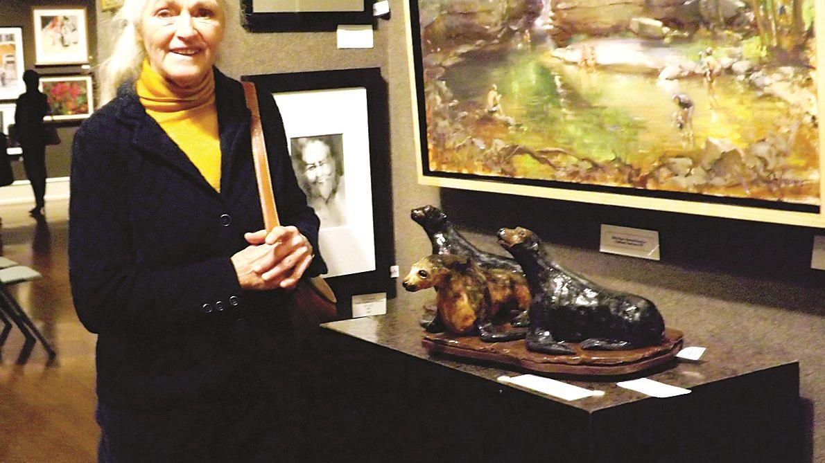 Orange artist's sculpture earns national award