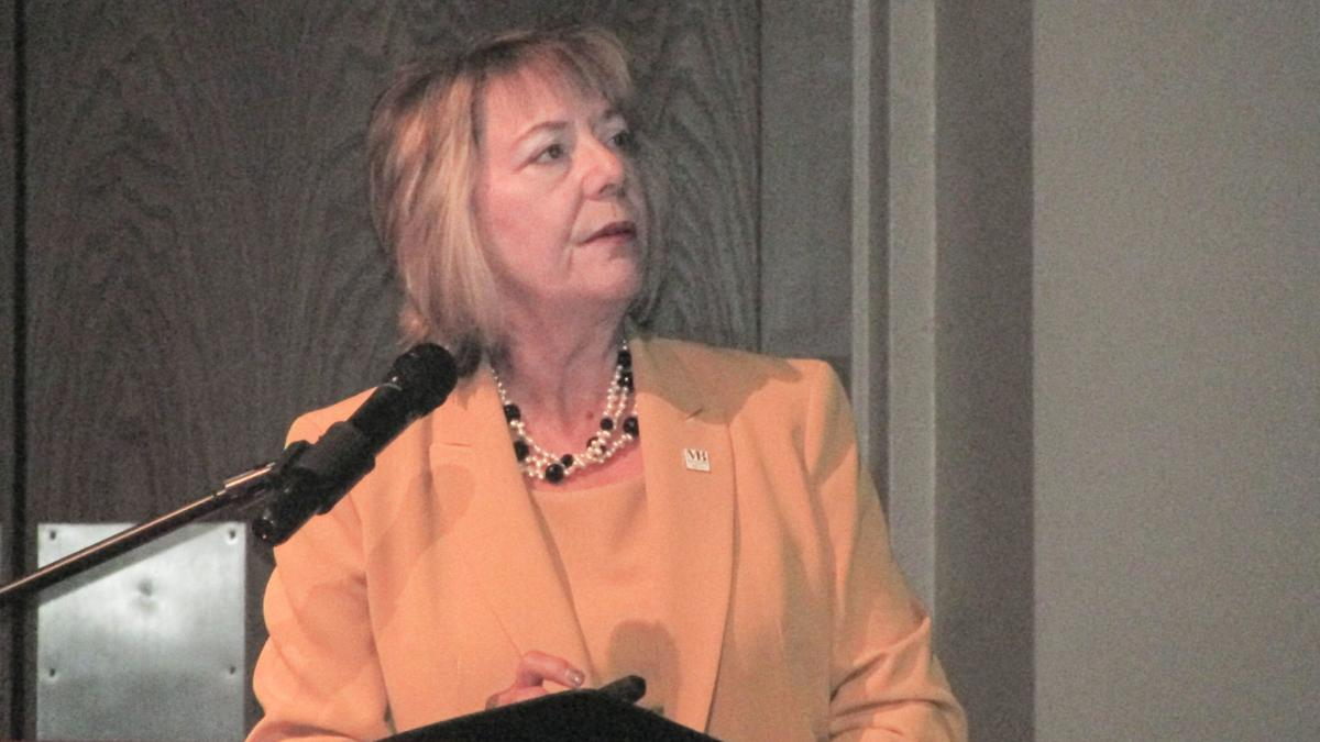Mary Baldwin leader speaks of the future and offers past tribute