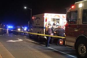<p>EMTsload a female pedestrian into an ambulance Friday evening for transport to UVa Culpeper Hospital. She died shortly after arriving at the emergency room, according to police.</p>