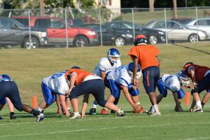 <p>The Madison offense faces off against the Orange defense.</p>